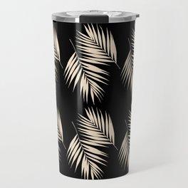 Palm Leaves Pattern #13 #Gold Touch #Black #decor #art #society6 Travel Mug