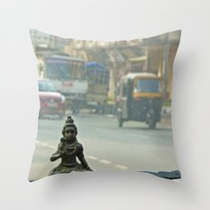 Gods are where you find them Throw Pillow