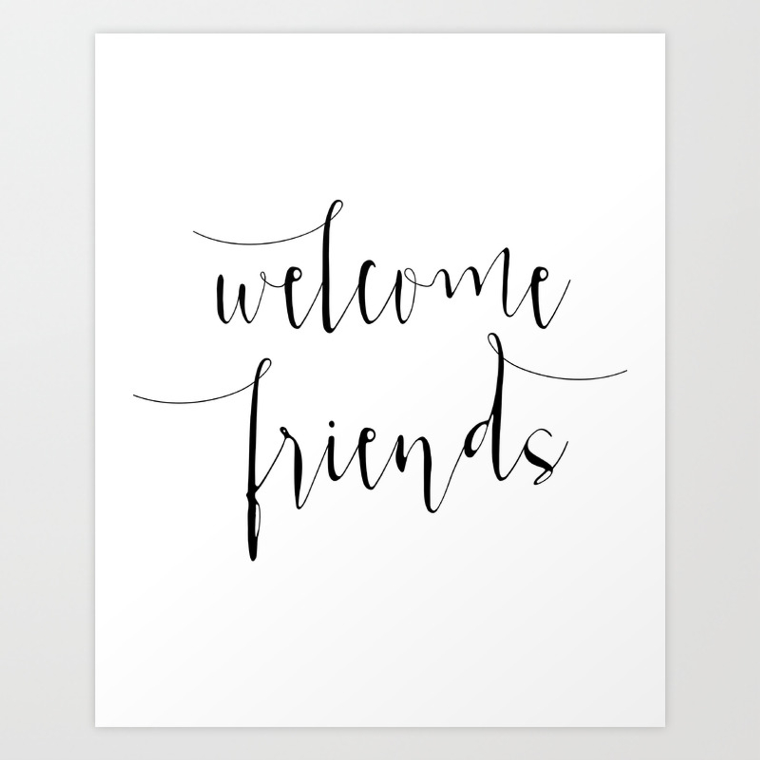 photograph regarding Printable Welcome Sign titled Inspirational Estimate Welcome Mates Quotation Print Typography Print Estimate Printable Household Welcome Indicator Artwork Print