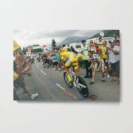 Alberto Contador 2009 Tour de France Metal Print