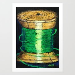 green spool of thread Art Print