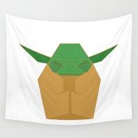 yoda Wall Tapestries featuring Yoda  by 2b2dornot2b