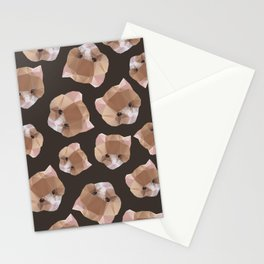 Cat from a geometrical pattern Stationery Cards