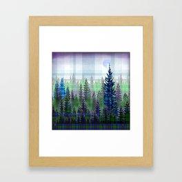 Plaid Forest Framed Art Print