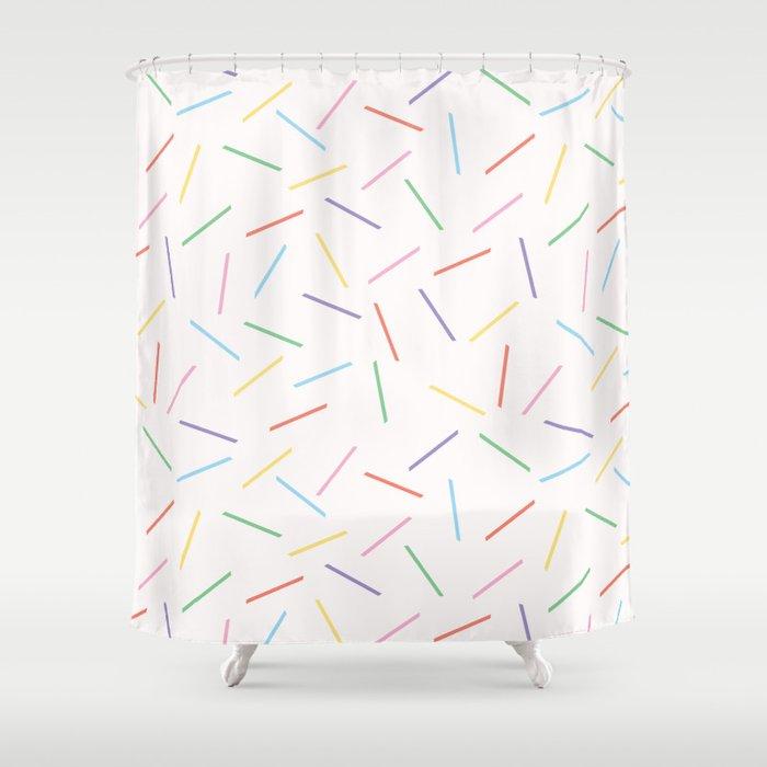Hand drawn vector tiny confetti sprinkles Shower Curtain