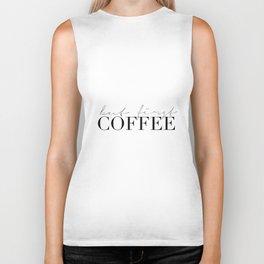 COFFEE BAR DECOR, Coffee Kitchen Decor,Modern Kitchen Art,Modern Print,Coffee Sign,Morning Quote,Ins Biker Tank