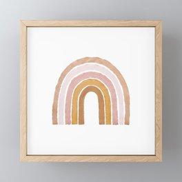 painted rainbow Framed Mini Art Print