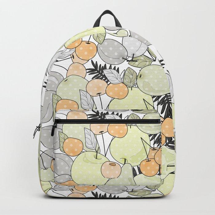 Fruit market . Retro . Backpack