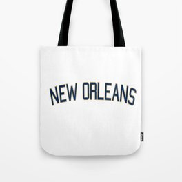 New Orleans Sports College Font Tote Bag