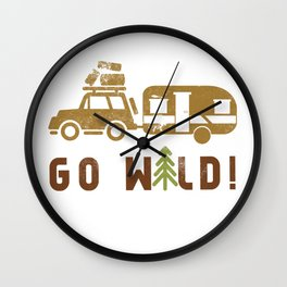 Camping Go Wild Wall Clock
