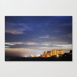 night time beach Canvas Print