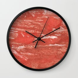 Indian red colorful wash drawing Wall Clock