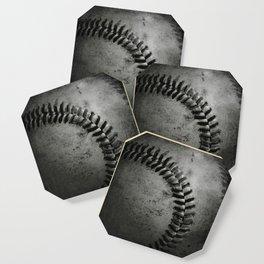 Black and white Baseball Coaster