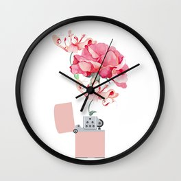 Fire destroys, fire creates Wall Clock