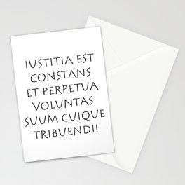 Iustitia est constans et perpetua voluntas Stationery Cards
