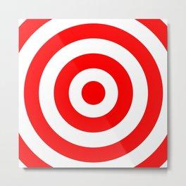 Target (Red & White Pattern) Metal Print