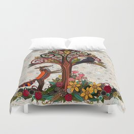 fox and crow Duvet Cover