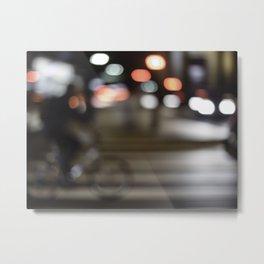Biking lights Metal Print