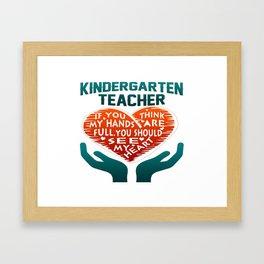 Kindergarten Teacher Framed Art Print