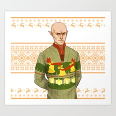 Very Merry Solas Art Print