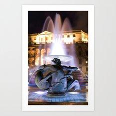 Trafalgar Square, London Art Print