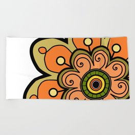 Flower 19 Beach Towel