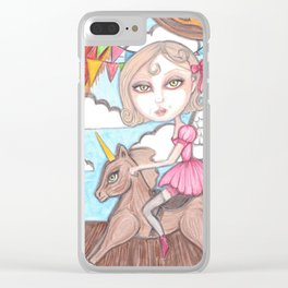 Angel Clear iPhone Case