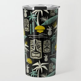 Island Tiki - Black Travel Mug