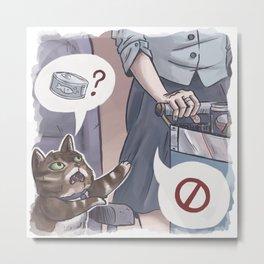 Cat Catering Metal Print