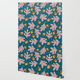 oak leaves and acorns Wallpaper