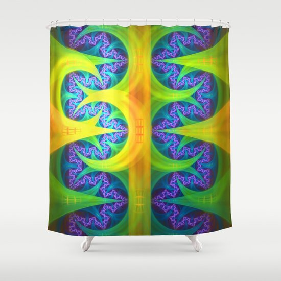 Bright Abstract Patterns In Blue Green Yellow Purple