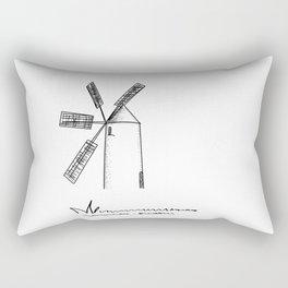 mill on white background Rectangular Pillow
