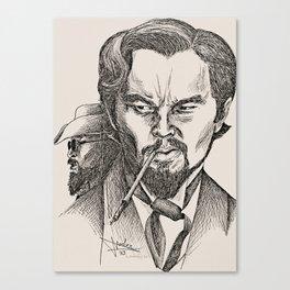 Monsieur Candie vs. his nemesis Canvas Print