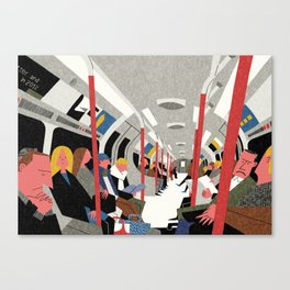 On the Tube, London Canvas Print