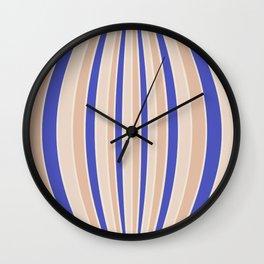 Warped Stripes - Vibrant Blue Wall Clock