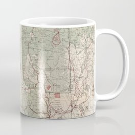 Vintage White Mountains National Forest Map (1931) Coffee Mug