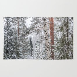 Winter in the Mountains Rug