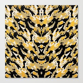 Metallic Camo - Stylish Camouflage Gold Pattern Canvas Print