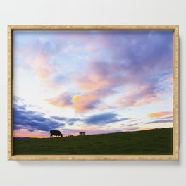 Sonoma County Sunset Serving Tray