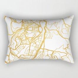 JERUSALEM ISRAEL PALESTINE CITY STREET MAP ART Rectangular Pillow