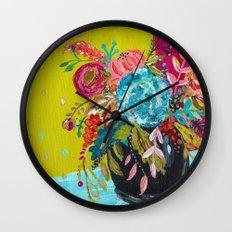 Bouquet Series no. 3 by Bari J. Wall Clock