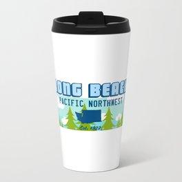 Long Beach Washington State. Metal Travel Mug