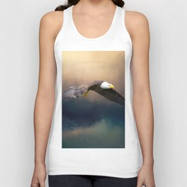 Painting flying american bald eagle Unisex Tank Top