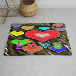 hearts of love Rug