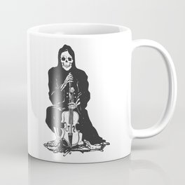 Violinist skull - grim reaper - cartoon skeleton - halloween illustration Coffee Mug