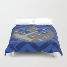 Wraith Squadron in Blue and Gray Duvet Cover
