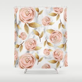 Blushing blooms Shower Curtain