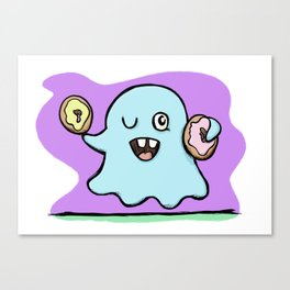 Is That More Food? The Elusive Donut Ghost. Canvas Print