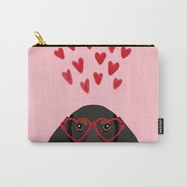 Dachshund dog breed pet art valentines day doxie must haves Carry-All Pouch