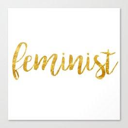 Golden Feminist Canvas Print